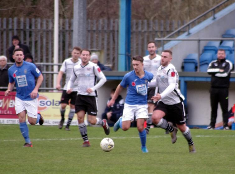 Ben Fawcett equalised for Haverfordwest County