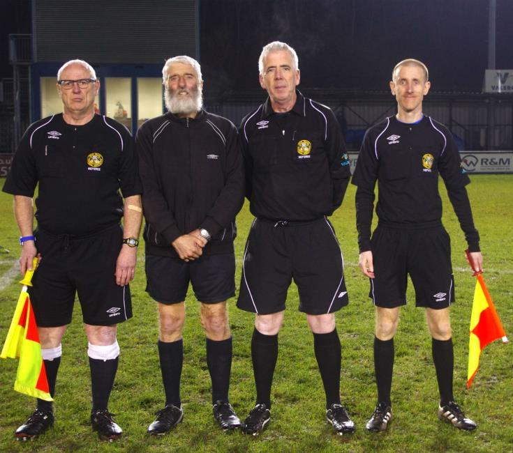 Match officials - Steve Williams, Keith Amos, Sean O Connor and Gareth Elliott