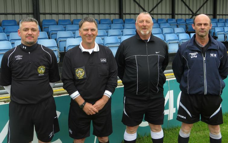 The cup final officials