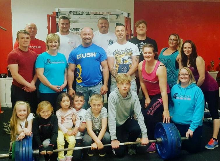 Some of the top performers at the Pembrokeshire Powerlifting Club