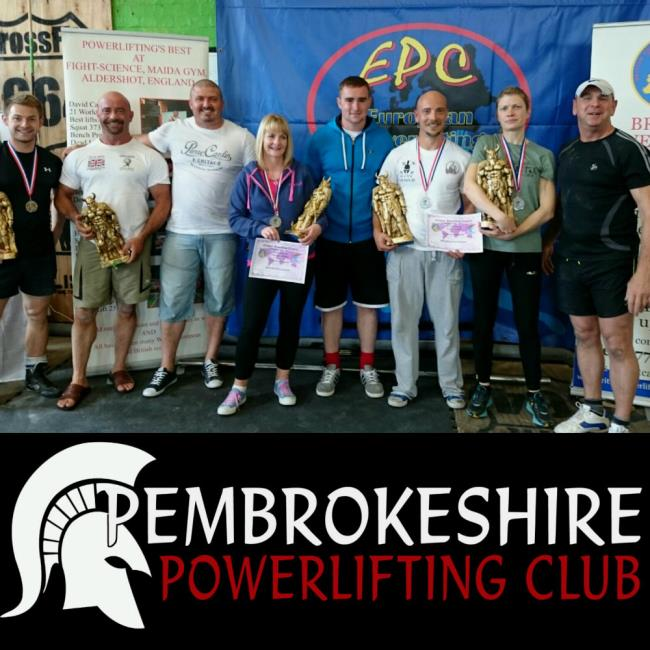 Young and old alike at Pembrokeshire Powerlifting Club!