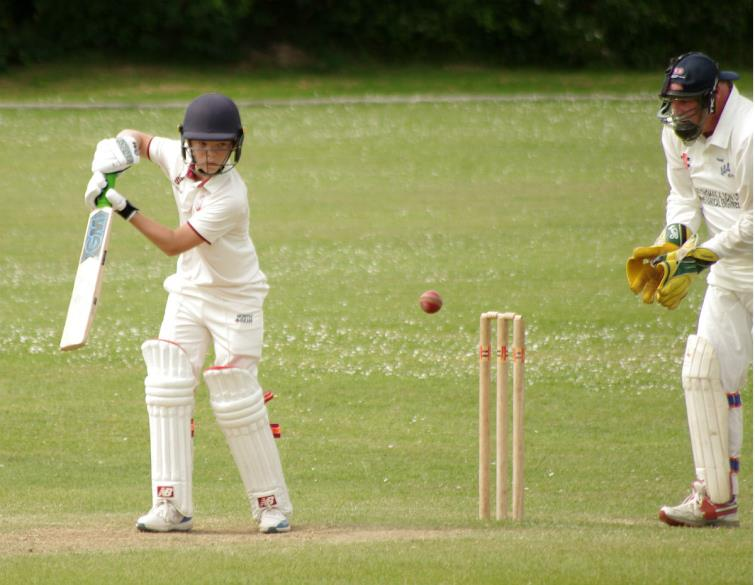 12 year old Charlie Arthur in action for Cresselly 2nds