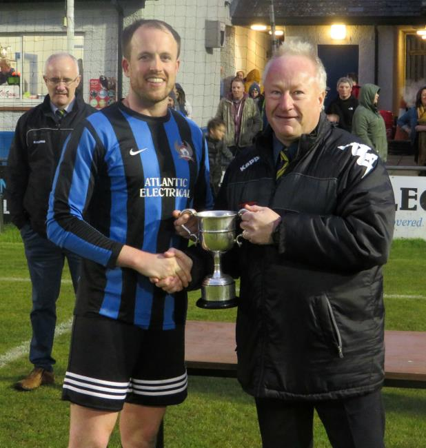 Broad Haven skipper with cup