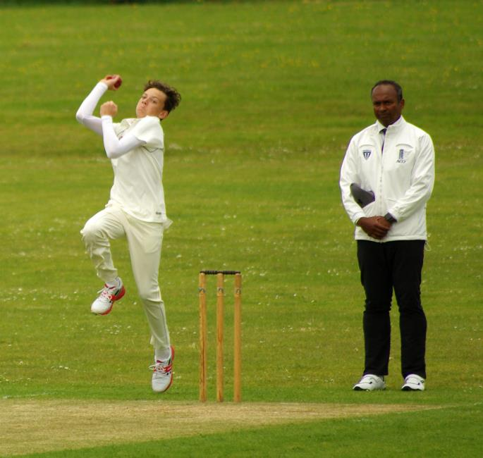 Teenager Evan Watts took wickets for Haverfordwest 2nds