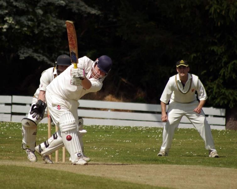 Harry Thomas batted tenaciously for Lawrenny