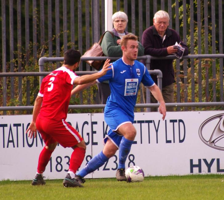 Joe Leahy marked his return with a brace of goals for on-fire Haverfordwest County