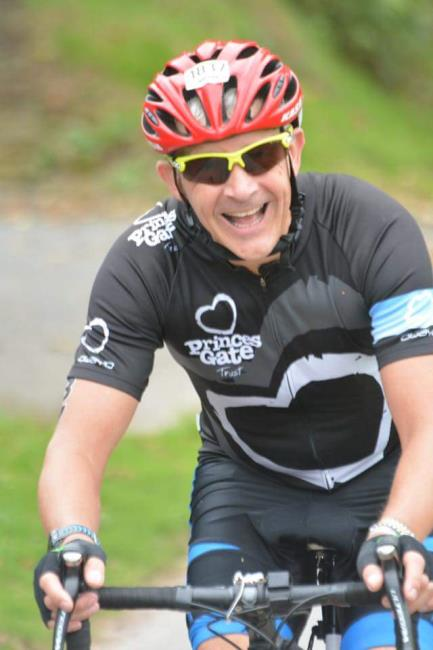 Mark Edwards enjoying the bike ride