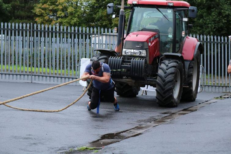 Rory Brown pulling a tractor