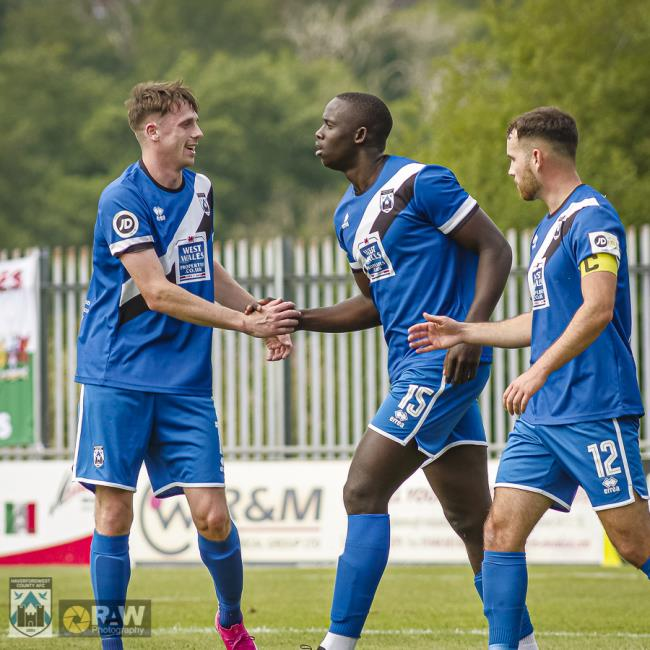 Alhagi Touray Sisay grabbed dramatic late winner for Haverfordwest County