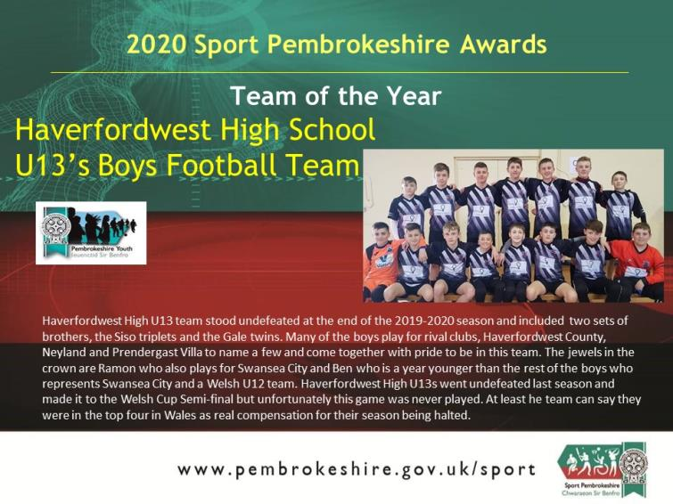 Team of the Year - HHVCS Boys Football