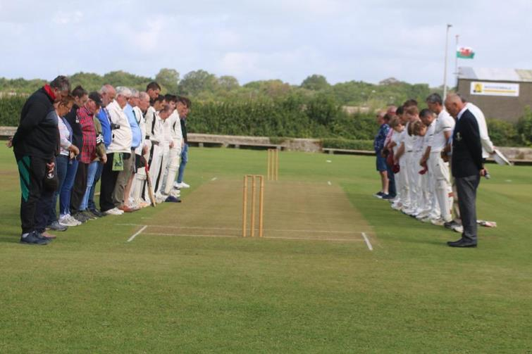 A minutes silices observed before 2019 Alec Colley Cup Final at Treleet