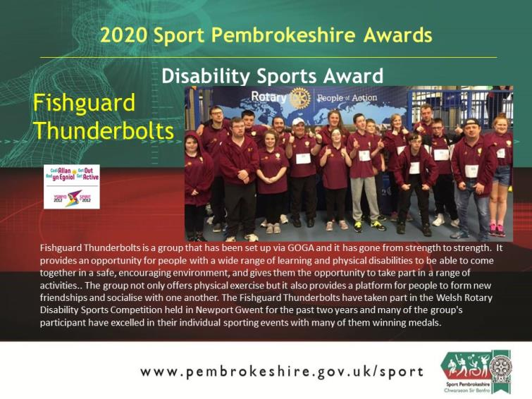 Adult Disability - Fishguard Thunderbolts