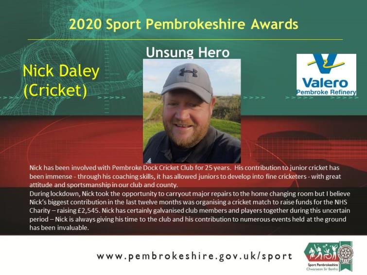 Unsung Hero - Nick Daley