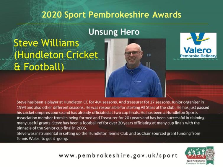 Unsung Hero - Steve Williams
