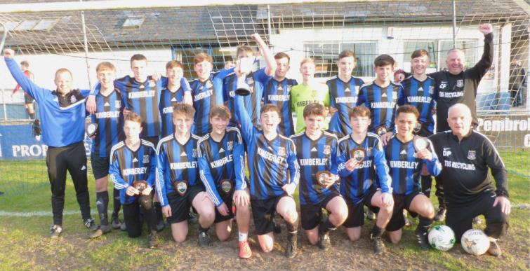 Winners Hakin United Under 16s