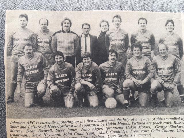Johnston AFC 1986-87
