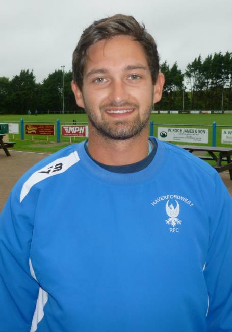 Mikey Jones - welcome return for Haverfordwest outside half