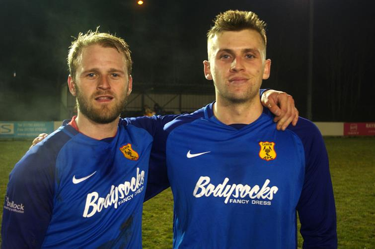 Carews two-goal heroes Sam Christopher and Lloyd Hughes