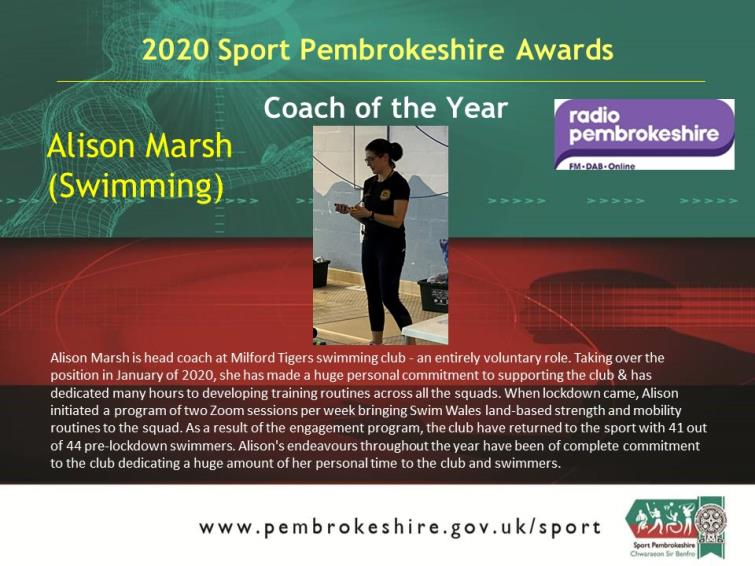 Coach of the Year - Alison Marsh