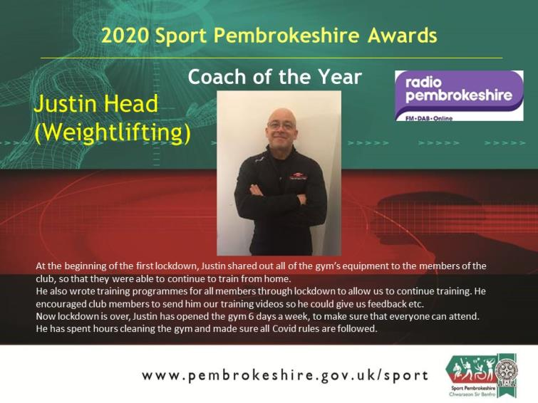 Coach of the Year - Justin Head