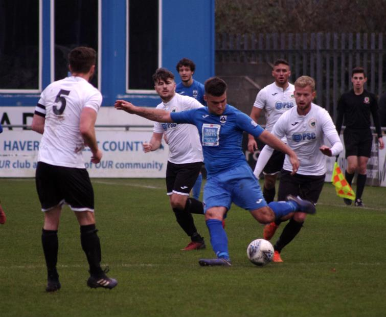 Ashley Bevan plays a diagonal ball for the Bluebirds