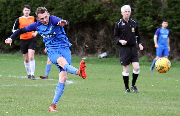 Ben Steele scored for the high flying Monkton Swifts