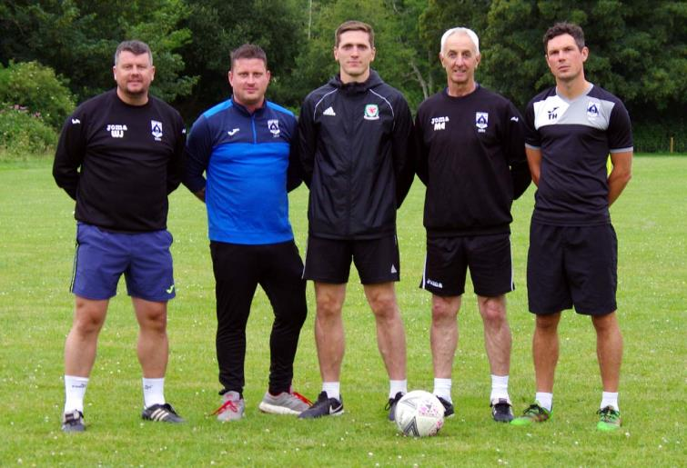 Coaches Wayne Jones, James Devonald, Mark Murison, Micky Ellis and Tim Hicks.