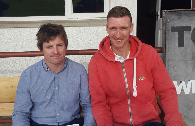 Scorers Matthew Davies and Paul Davies