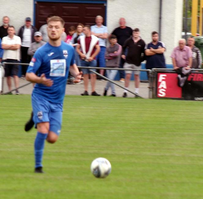 Haverfordwest County skipper Sean Pemberton grabbed two goals