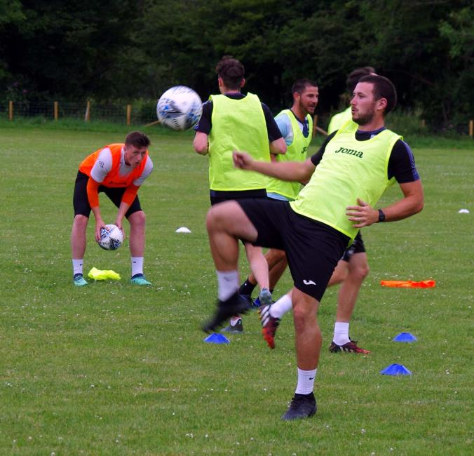 Ricky Watts putting his best foot forward in training