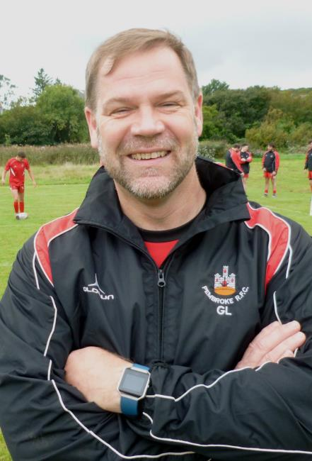 Geraint Lewis - coach for Pembroke at Newcastle Emlyn
