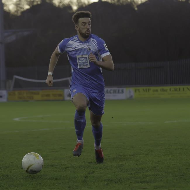Haverfordwest County goal scoring hero Elliot Scotcher. Picture by matthew@wawphotography.me.uk