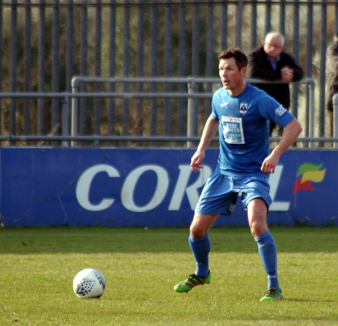 Tim Hicks scored two late goals for Haverfordwest County
