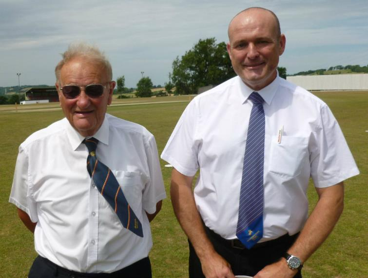 Umpires John Williams and Richard Scriven