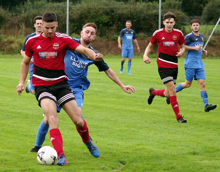 Ben John slotted in Clarbeston Roads second goal