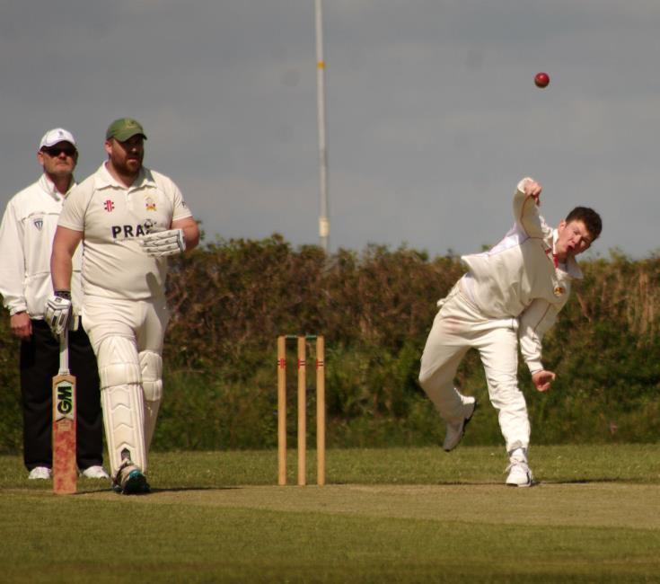 Ceri Brace took two wickets for Carew at Oatfield Park