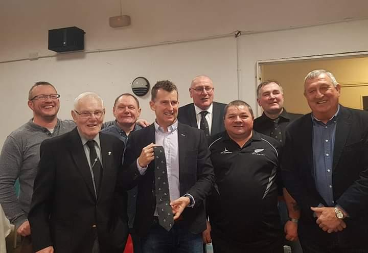 With Nigel Owens and some of his Neyland pals