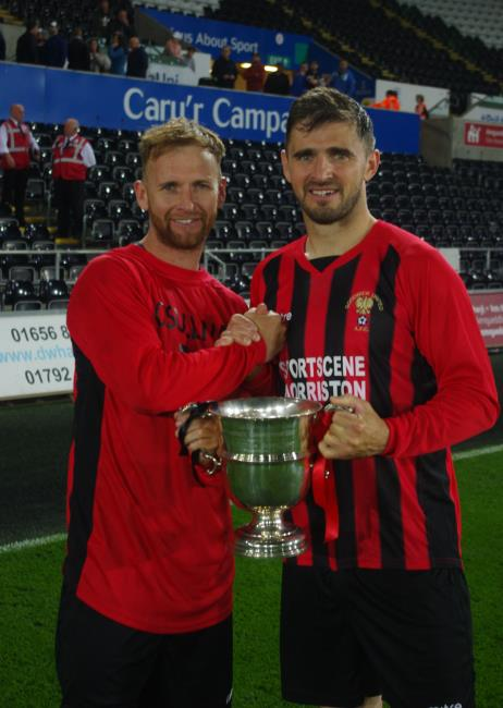 Brothers - Chris and Wayne O Sullivan with West Wales Cup