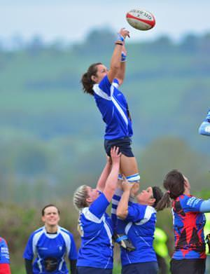 Clodagh takes lineout ball