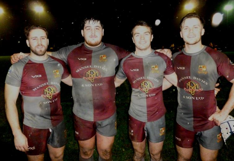 Crymych try scorers: Lawrence Headlam, Ryan Rees, Dafydd Phillips and Guto Davies