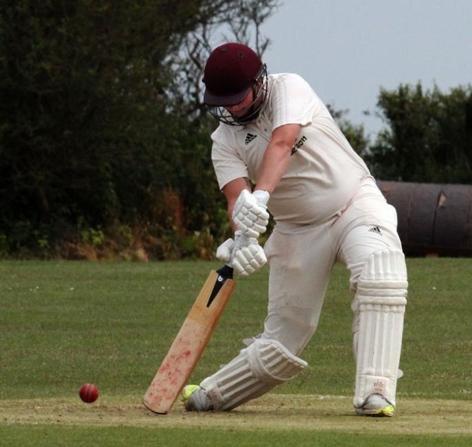 Curtis Marsh who top scored for Lawrenny with 43 not out