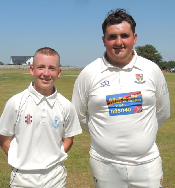 Excellent young 12th men - Rhys Daley and George Smith (both Pembroke Dock)