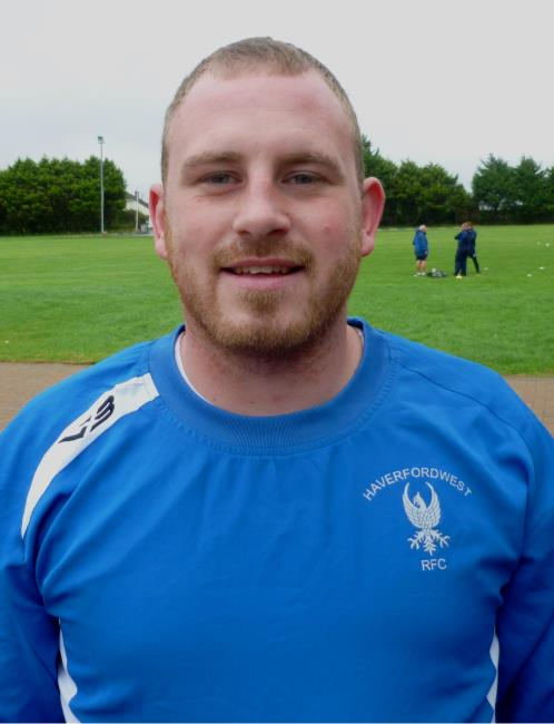 Dane Pindare - back from injury for Haverfordwest with a try