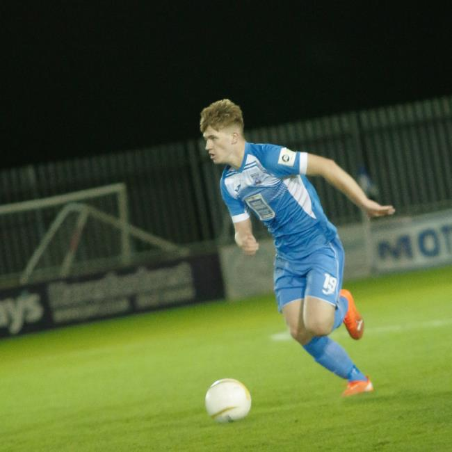 Danny Williams presses forward. Picture by Matthew Kelly of Rawphotography