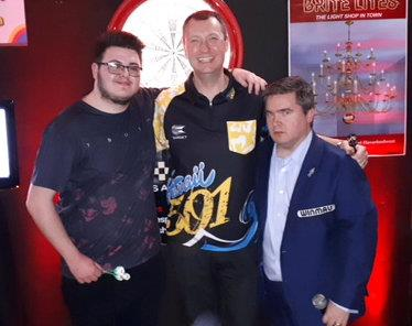 Declan with Wayne Mardle & Richard Ashdown