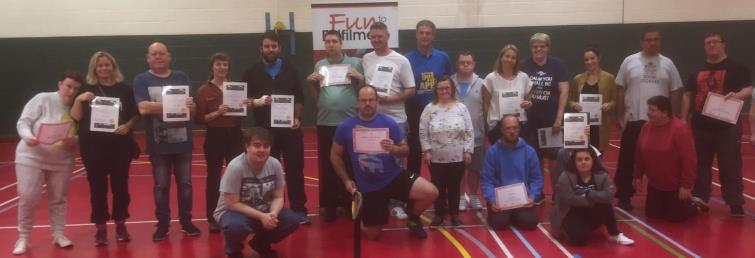 Disability Carers proudly display certificates