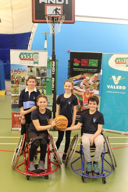 STPs Inter Zone Basketball squad that finished second in the Welsh nationals finals recently.