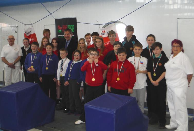 swimmers at the disability swimming gala held at Fishguard Leisure Centre last week.