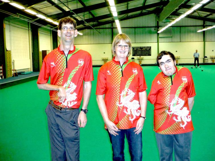 Raymond Lillicrop, Pauline Wilson and Jonathan Hubbard, who are representing Wales in Australia.