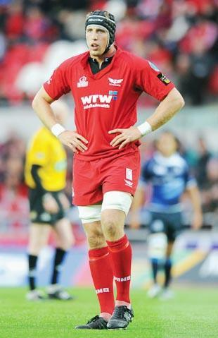 Dominic Day with the Scarlets